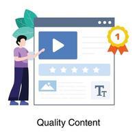 concept de contenu de haute qualité vecteur