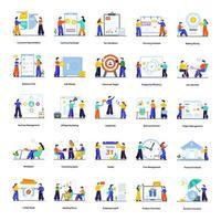 ensemble d & # 39; activités de bureau et professionnelles vecteur