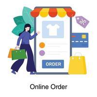 concept d'application de magasinage mobile