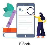 e-book ou concept de lecture en ligne vecteur