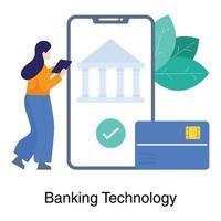 concept de technologie bancaire en ligne vecteur