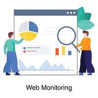 concept de service de surveillance Web vecteur