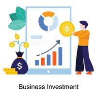 application d'investissement pour concept d'entreprise vecteur