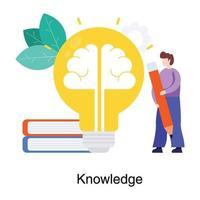 concept d'esprit et de connaissance vecteur