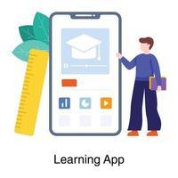 concept d'application d'apprentissage en ligne
