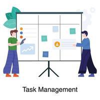 concept d & # 39; équipe de gestion des tâches vecteur