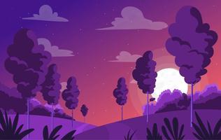 Illustration de paysage pourpre de vecteur