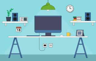 Vector Bureau Desktop Illustration