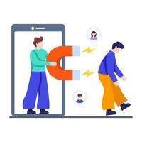 concept de stratégies de fidélisation de la clientèle vecteur