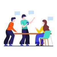 discussions entre collègues et concept de décision vecteur