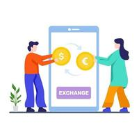 concept d & # 39; application de change de devises