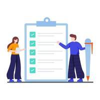 concept de liste de contrôle d & # 39; achèvement des tâches vecteur