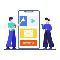 contactez-nous page concept vecteur