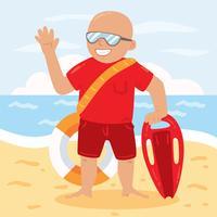 Vecteur de Lifeguard heureux