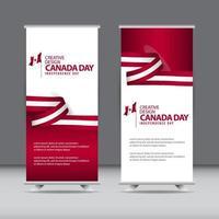 joyeux jour de l'indépendance du canada conception créative illustration de modèle de vecteur