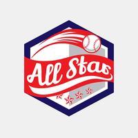 baseball tout le logo d'étoile vecteur
