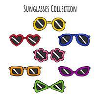 Collection de jeu de lunettes de soleil mignon vecteur
