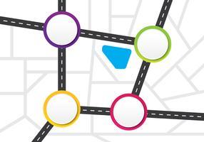 Modèle infographique de carte routière