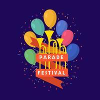 Défilé Festival Vector Illustration`