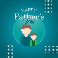 illustration de conception de modèle de vecteur de fête des pères heureux