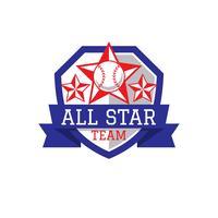 baseball tout le logo d'étoile