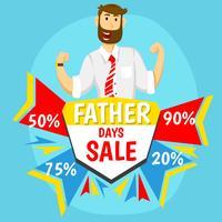 Vente de la fête des pères vecteur