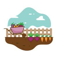 Vecteur de jardin potager
