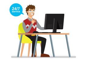 Illustration du service d'assistance vecteur