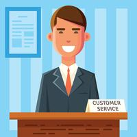 Caractère du service client vecteur