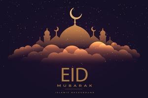 modèle de fond de voeux eid mubarak