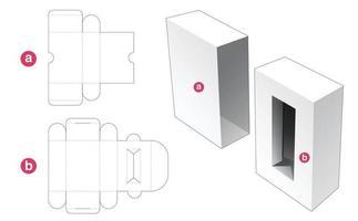 boîte d'insertion cosmétique avec couvercle gabarit découpé vecteur
