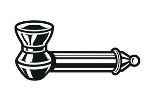 illustration vectorielle de fumée de pipe sur fond blanc.