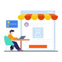 concept de magasinage en ligne ou de commerce électronique