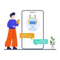 concept de conversation de chat en ligne vecteur
