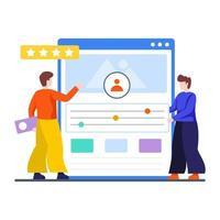 analyse concurrentielle et concept de classement de site Web vecteur
