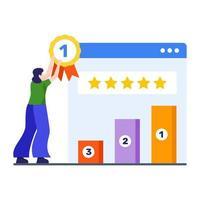 classement de site Web et concept de trafic vecteur
