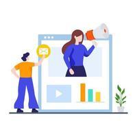 concept de campagne de marketing numérique