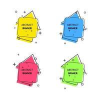 bannières géométriques. étiquettes promotionnelles. formes géométriques vectorielles pour la publicité
