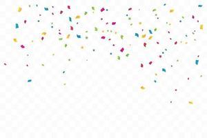 étoiles de confettis colorés. fête de célébration. illustration vectorielle
