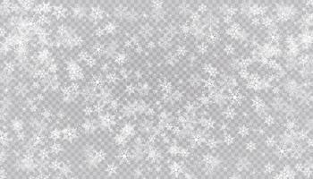 la neige blanche vole. flocons de neige de Noël. illustration de fond hiver blizzard.