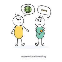 rencontre internationale entre deux personnages de dessins animés