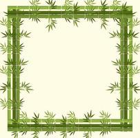 bannière vide avec cadre en bambou vert