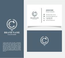 carte de visite avec logo c vecteur, eps 10 vecteur