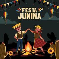 conception de festa junina vecteur