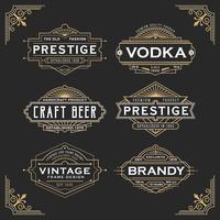 Design de cadre de ligne vintage pour étiquettes vecteur