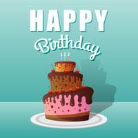 Joyeux anniversaire, conception de cartes de voeux vecteur