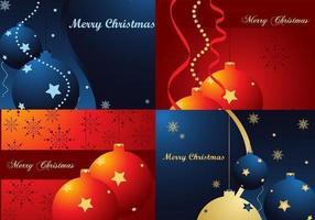 Bright Christmas Wallpaper Vectors