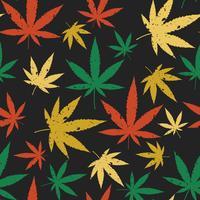 Modèle rétro sans couture de cannabis. vecteur