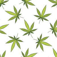 Motif de vecteur de cannabis.
