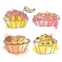 Illustration vectorielle de tartes. vecteur